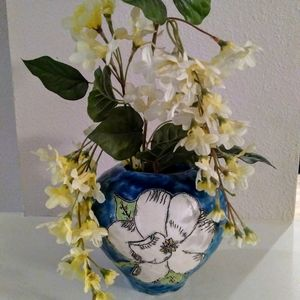 Art clay pottery vase flower pot plant holder